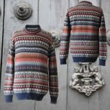 Men sweater alpaca with stripe pattern