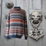PopsFl men sweater alpaca stripes