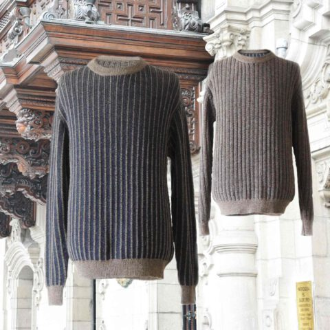 PopsFl men sweater alpaca reversible