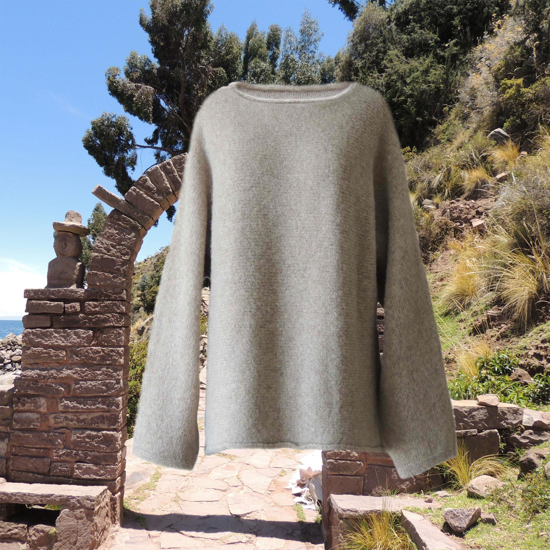 PopsFL knitwear women sweater oversized felted alpaca blend