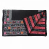 PopsFL knitwear wholesale Women's ruana - wrap jacquard knitted colorful floral pattern 100% baby alpaca. Industrial knitted, made in Peru