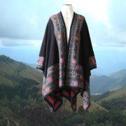 PopsFL knitwear Women Poncho 100% alpaca