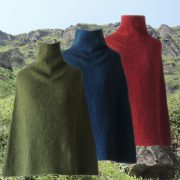 PopsFL Knitwear Womens poncho / scarve in felted alpaca blend